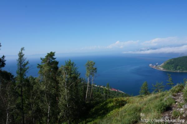 展望台から見たバイカル湖の画像