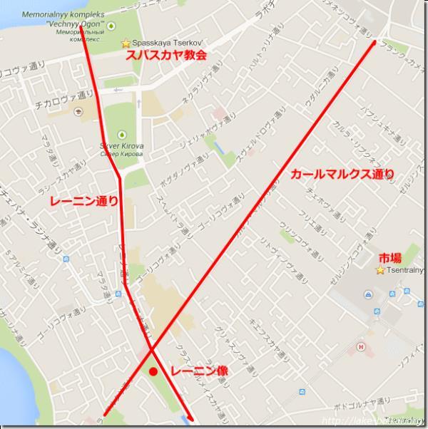イルクーツク観光用地図画像