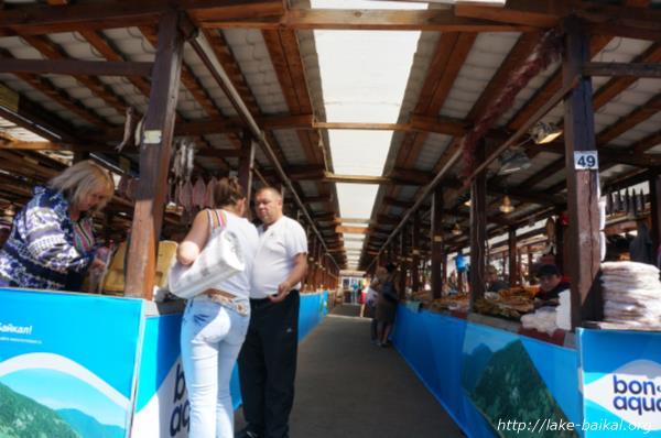 バイカル湖魚市場画像